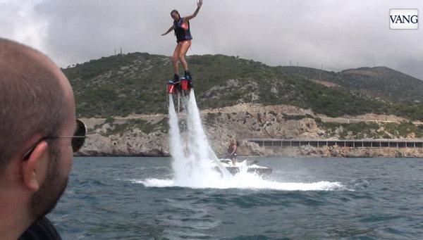 El Flyboard sube con fuerza en Catalunya